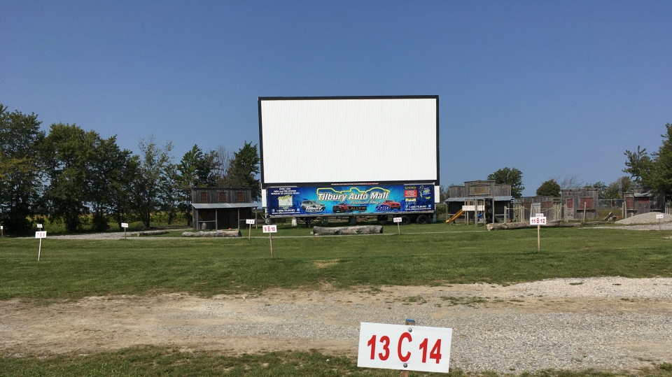 The Boonie's drive-in theatre in Tilbury, Ont. on Wednesday, Sept. 23 2020. (Gary Archibald/CTV Windsor)