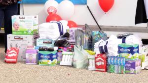 Stuff the Bus kicks off the United Way's fall fundraising campaigns. (Chad Hills/CTV Saskatoon)