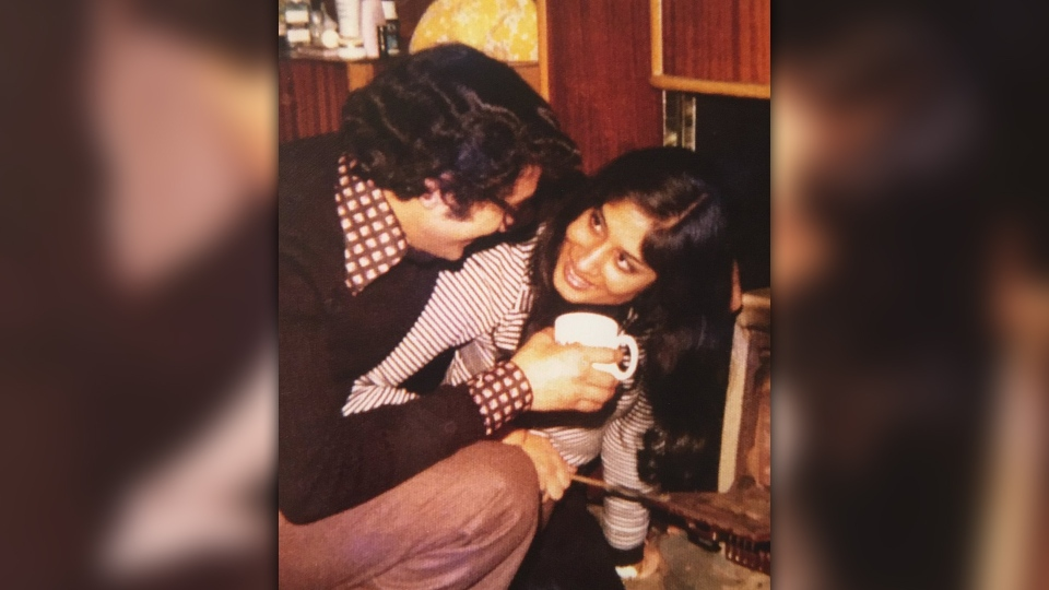 Alberta lietenant-governor Salma Lakhani and her husband Zaheer in the 70s. (supplied)