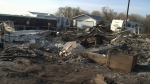 A home near Broadview, Sask., was destroyed in a fire on September 20, 2020.