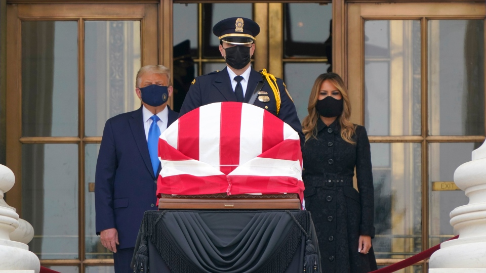 The Trumps pay respects to Ruth Bader Ginsburg