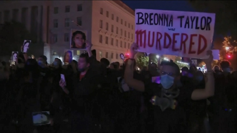 Violent protests erupted across the U.S. after a grand jury brought no charges against Louisville police in the death of Breonna Taylor.