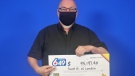 Londoner Scott Bennett claims his prize from the September 2, 2020 LOTTO 6/49 draw.  (Source: OLG)