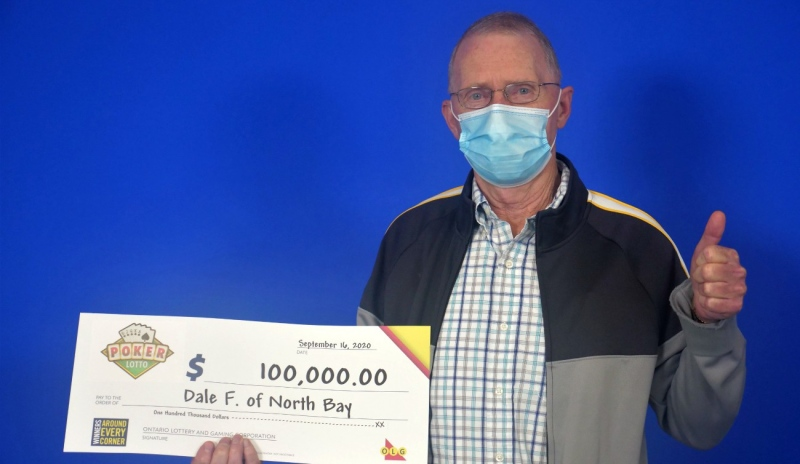 Dale Forth of North Bay was dealt a winning hand in the Sept. 7 Poker Lotto draw. Forth matched five of five cards to win $100,000. (Supplied)