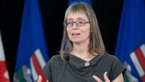 Alberta's chief medical officer of health Dr. Deena Hinshaw provided, from Edmonton on Thursday, September 10, 2020, an update on COVID-19 and the ongoing work to protect public health. (photography by Chris Schwarz/Government of Alberta)