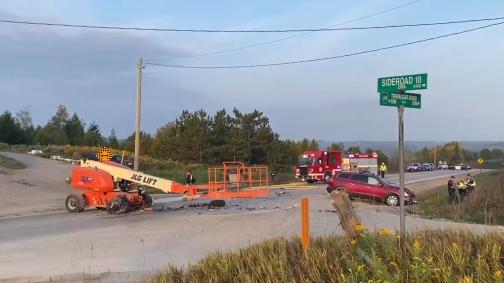 A bad crash in Erin, Ontario
