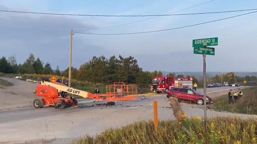 A bad crash in Erin, Ontario