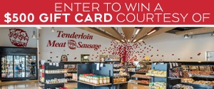 Tenderloin Meat and Sausage Grocery Giveaway Banne