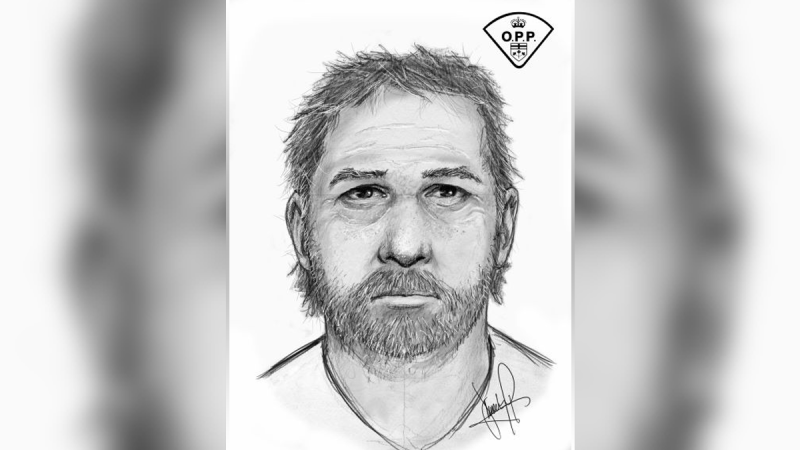 Ontario Provincial Police have released a composite sketch of a suspect following a serious assault with a weapon in North Dundas Township on Sept. 17. (Photo courtesy: Ontario Provincial Police)