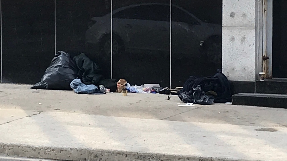 Homeless man in St. Thomas