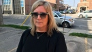 Patti Mugford-Pooley, a business owner in downtown St. Thomas is frustrated with a lack of solutions for drug use, vandalism, and crime in the area of her store (Sean Irvine CTV News)