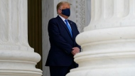 Trump heckled by crowd during Ginsburg visit