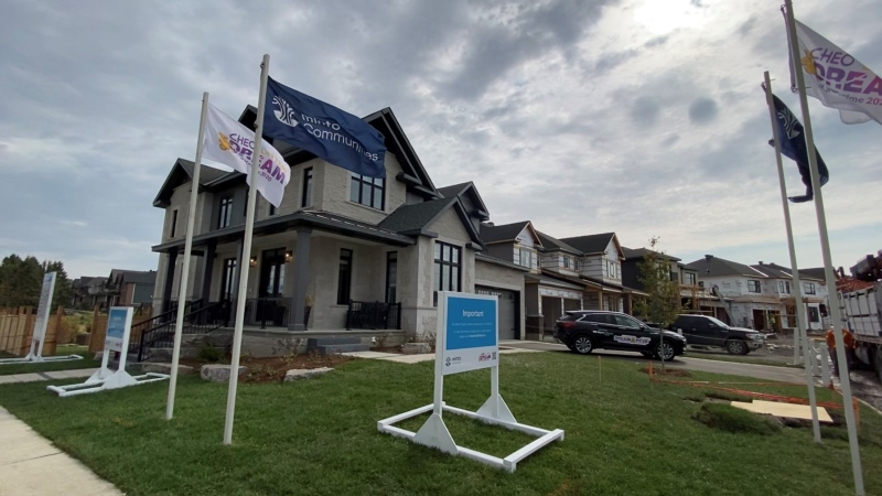 CHEO Dream of a Lifetime Lottery grand prize home in the Minto Mahogany neighborhood of Manotick. Ottawa, ON. Sept. 24, 2020 (Tyler Fleming / CTV News Ottawa)