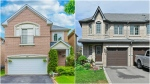 Dilini Jayasinghe's new detached home is seen beside her old home in these photographs.