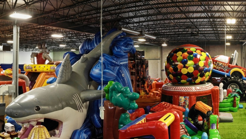 Big Fun Inflatable Park, near CrossIron Mills mall north of Calgary, first attempted to reopen back in June but was forced to close again because of health regulations. (Supplied)