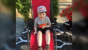 Jennifer Sasakamoose says her son Daniel, who is on the autism spectrum, has regressed to hitting and making noises since the pandemic put his treatments on pause. Now, he's scheduled to age out of funding for the behavioural treatment he had been receiving. (Jennifer Sasakamoose)