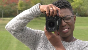 Alicia Wynter gained national attention while photographing the Black Lives Matter march (Jessica Smith / CTV News Kitchener)