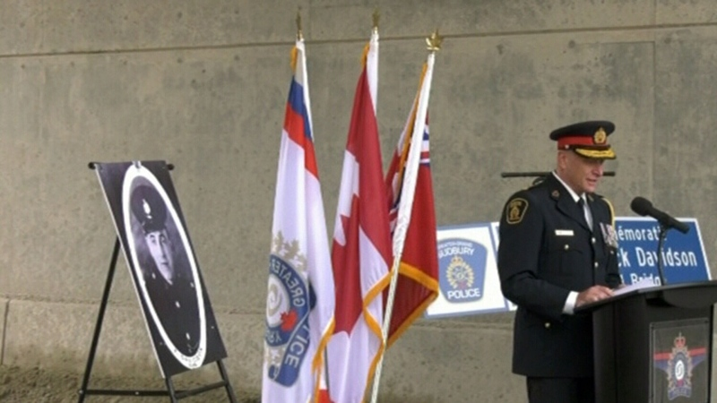 Sudbury bridge named to honour late police office