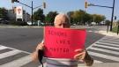 Seniors Live Matter protest planned in Amherstburg on Sat. Sept. 26, 2020. (Chris Campbell / CTV Windsor)