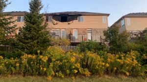 Fire damage on Wasaga Cres. in Waterloo. (Sept. 25, 2020)