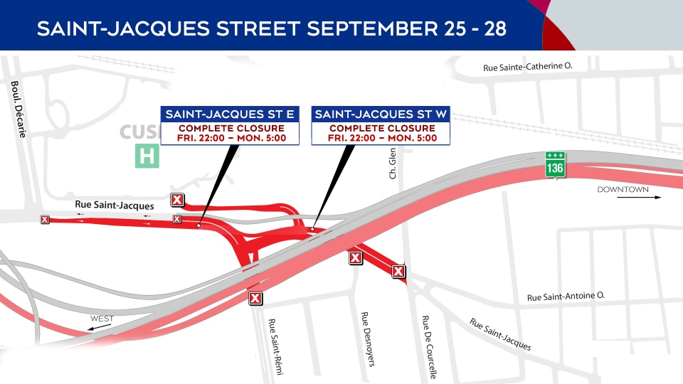 St. Jacques closures Sept. 25-28