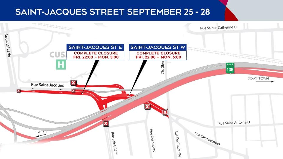St. Jacques closures Sept. 25-28