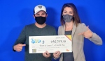 Shane and Laura Toms of North Bay won $245,723.10 in the Sept. 24 Lotto Max draw, winning second prize. (Supplied)