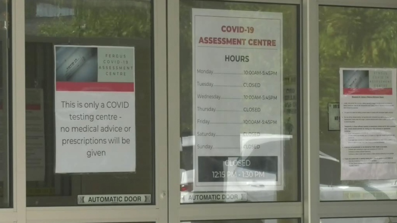 COVID testing at old Fergus hospital