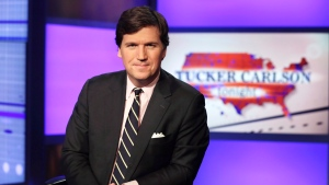 "Tucker Carlson, host of ""Tucker Carlson Tonight,"" poses for photos in a Fox News Channel studio, in New York in this March 2, 2017, file photo. (AP Photo/Richard Drew, File)"