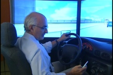 Driving instructor Pierro Hirsch practices repeatedly on a simulator, but still can't text and drive (Oct. 15, 2009)