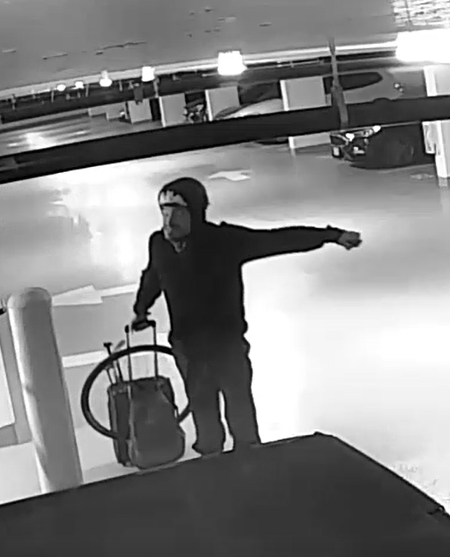 Police are hoping to identify and locate this man in connection to a theft at a Victoria parkade: (VicPD)