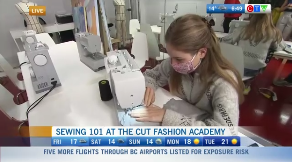 Learning how to sew