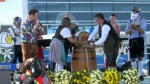 Tapping the first keg of Oktoberfest 2020. (Sept. 25, 2020)
