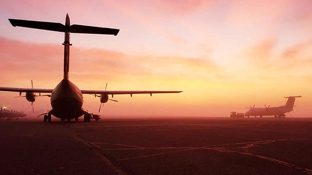 Early morning in Thompson, MB Airport. Photo by Robert Sweeny.