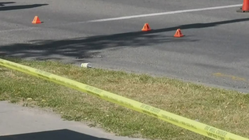 Elderly pedestrian hospitalized
