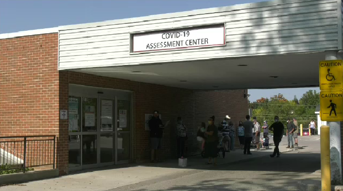 The COVID-19 assessment centre in Fergus