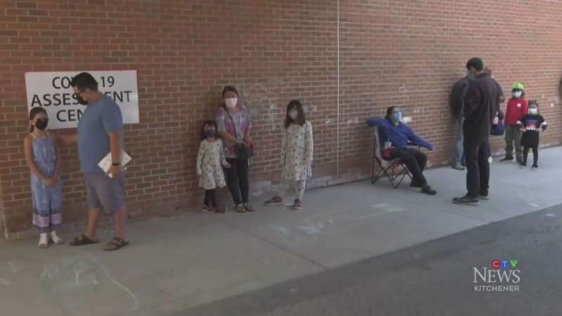 Rural testing sites dealing with long lines