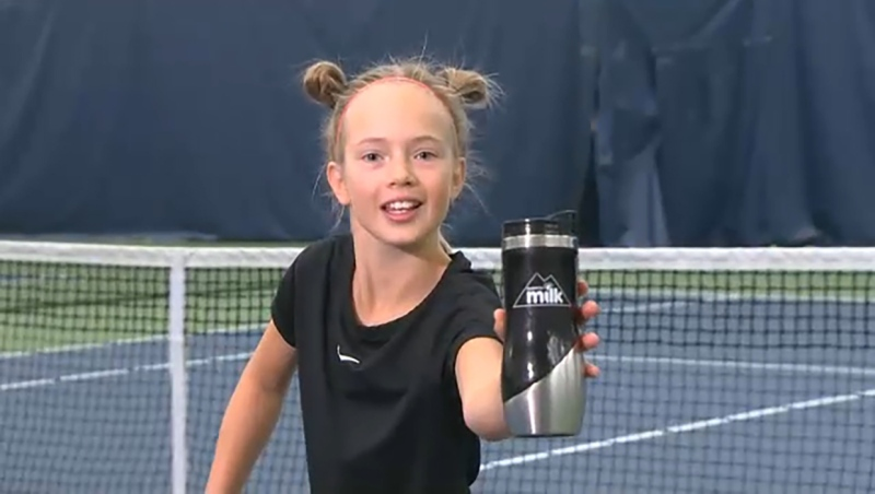She's only 10, aims to be number 1 and she's this week's Athlete of the Week, Eva Lukyanova. Glenn Campbell reports.