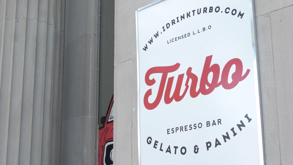 Turbo Espresso Bar is pictured in downtown Windsor on Friday, September 25, 2020. (Ricardo Veneza/CTV Windsor)