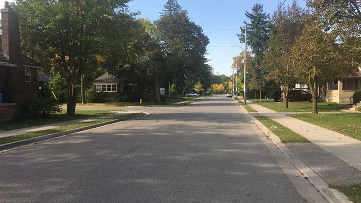 Broughdale Avenue in London, Ont. is quiet during FOCO 2020 on Sept. 26, 2020. (Brent Lale/CTV London)