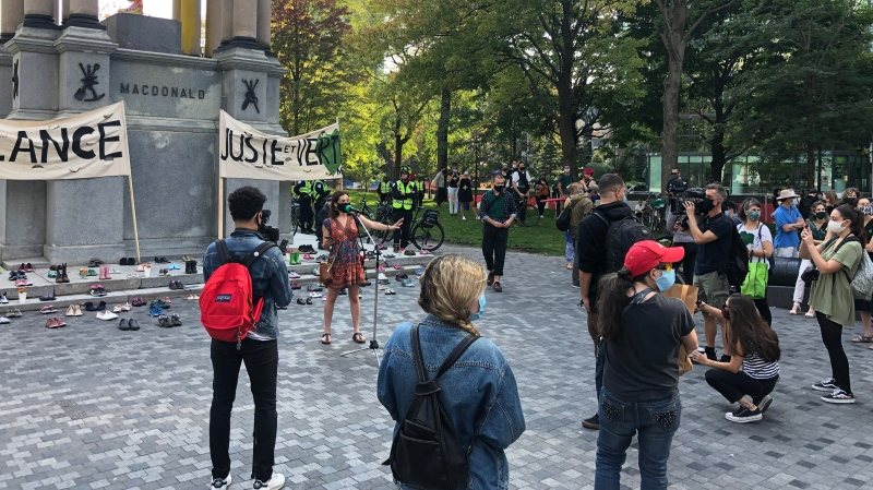 Almost a year after the streets were packed in support of action on climate change, people gathered in Montreal to again demand action on the environmental file.