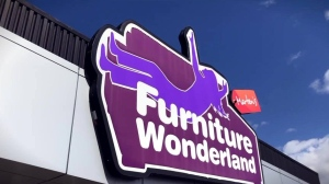 The Marten's Furniture Wonderland sign in a photo from the store's Facebook page.