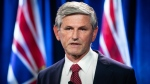 B.C. Liberal Leader Andrew Wilkinson responds to the B.C. NDP government's $1.5 billion COVID-19 economic recovery plan in Burnaby, B.C. on Thursday, September 17, 2020. THE CANADIAN PRESS/Darryl Dyck