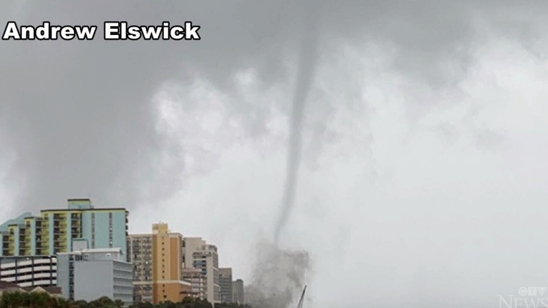 Tornado touches down in Myrtle Beach, S.C.