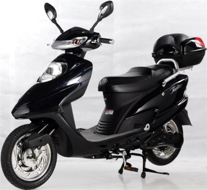 Police say Jones may be riding a new black electric scooter similar to the one pictured. (Victoria Police Department)