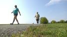 The Prescott Fort Town Night Run will be held virtually this year due to the COVID-19 pandemic. (Nate Vanermeer/CTV News Ottawa).