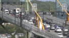 There were long backups on the Halifax and Dartmouth side of the Macdonald bridge, as the MacKay was closed for repairs.