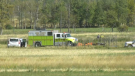 Two people were killed in a plane crash southwest of Edmonton on Sept. 26, 2020. (Galen McDougall/CTV News Edmonton)