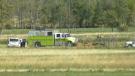 Two people were killed in a plane crash southwest of Edmonton on Sept. 26, 2020. (Galen McDougall/CTV News Edmonton)
