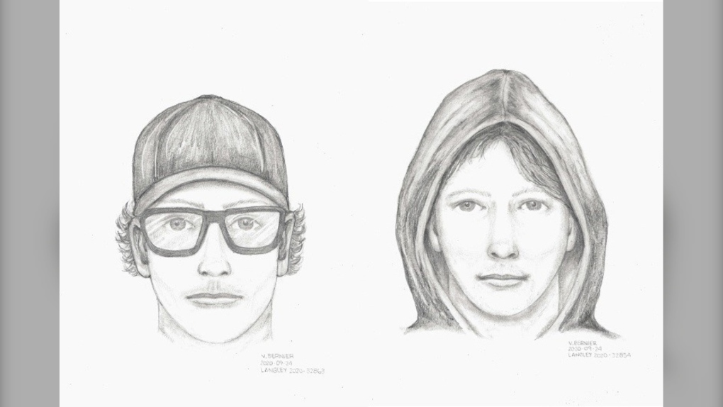 Langley suspect sketches